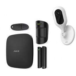 Комплект сигнализация Ajax StarterKit черный + IP камера Dahua DH-IPC-C12P