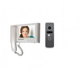 Комплект видеодомофона Tantos Loki + вызывная панель NeoLight SOLO Graphite