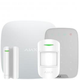 Комплект беспроводной сигнализации Ajax  StarterKit + KeyPad с кодовой клавиатурой белый