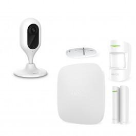 Комплект сигнализация Ajax StarterKit белый + IP камера Dahua DH-IPC-C22P