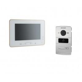 Комплект ip видеодомофона Hikvision DS-KH8301-WT и ip вызывной панели DS-KV8102-IM
