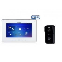 Комплект ip видеодомофона Dahua DH-VTH5241DW и ip вызывной панели DH-VTO2111D-WP
