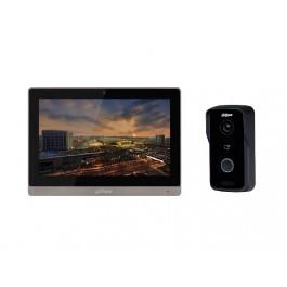 Комплект ip видеодомофона Dahua DH-VTH1660CH и ip вызывной панели DH-VTO2111D-WP