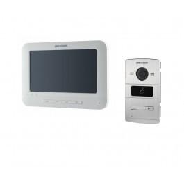 Комплект ip видеодомофона Hikvision DS-KH6310-W и ip вызывной панели DS-KV8102-IM