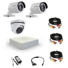 Комплект видеонаблюдения Hikvision Standart 2 уличн - 1 купол (металл)