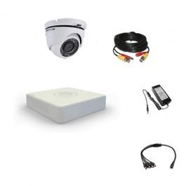 Комплект видеонаблюдения Hikvision Proffesional 1 купольная (металл)