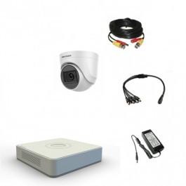 Комплект видеонаблюдения Hikvision Proffesional с микрофоном 1внутренняя