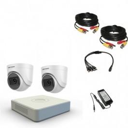Комплект видеонаблюдения Hikvision Proffesional с микрофоном 2внутренние