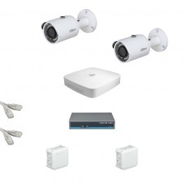IP Комплект видеонаблюдения Dahua Ultra HD 2 цилиндра (металл)