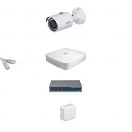 IP Комплект видеонаблюдения Dahua Ultra HD 1 цилиндр (металл)