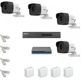 IP Комплект видеонаблюдения Hikvision Standart 4 цилиндрические (металл)