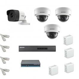 IP Комплект видеонаблюдения Hikvision Standart 1уличн-3купол (металл)