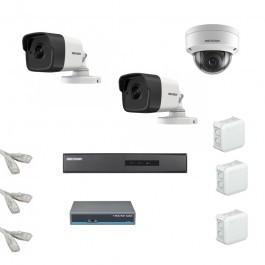 IP Комплект видеонаблюдения Hikvision Standart 2уличн-1купол (металл)