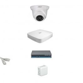 IP Комплект видеонаблюдения Dahua Ultra HD 1купольная (металл)