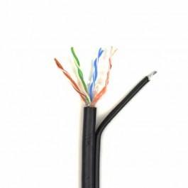 UTP 4*2*0.5-CU PVC-PE MP кат.5е (UTP медь наружный с несущей проволокой) бухта 305м