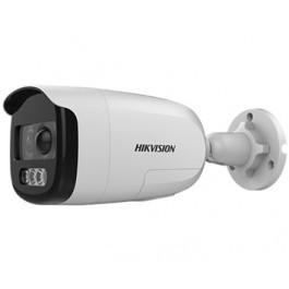 2Мп ColorVu Turbo HD видеокамера с PIR датчиком и сиреной DS-2CE12DFT-PIRXOF (3.6 ММ)