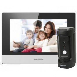 Комплект IP домофона Hikvision DS-KH6320-WTE1+DS-KB8112-IM