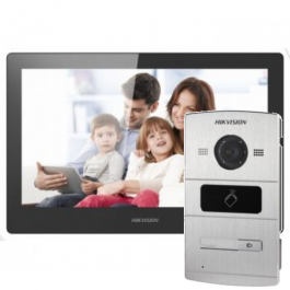 Комплект IP домофона Hikvision DS-KH8520-WTE1+DS-KV8102-IM