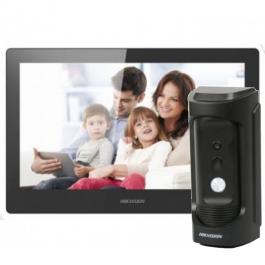 Комплект IP домофона Hikvision DS-KH8520-WTE1+DS-KB8112-IM