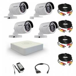 Комплект видеонаблюдения Hikvision(8) Professional 4 уличные