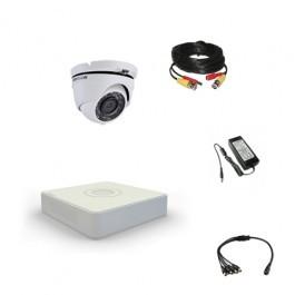Комплект видеонаблюдения Hikvision Standart 1 купольная (металл)