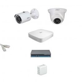 IP Комплект видеонаблюдения Dahua Ultra HD 1уличн-1купол (металл)