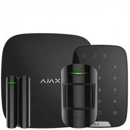 Комплект беспроводной сигнализации Ajax  StarterKit + KeyPad с кодовой клавиатурой черный