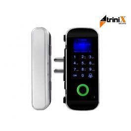 Биометрический автономный электрозамок на стеклянные двери Trinix TRL-3303BG