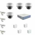IP Комплект видеонаблюдения Hikvision Standart POE 4купольные(металл)