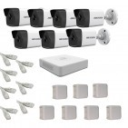 IP Комплект видеонаблюдения Hikvision(8) 2MP (FullHD) 7 цилиндр