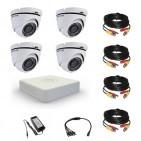 Комплект видеонаблюдения Hikvision Standart 4 купольные (металл)