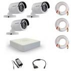 Комплект видеонаблюдения Hikvision Proffesional 3 уличные