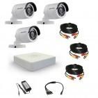 Комплект видеонаблюдения Hikvision Professional 3 уличные