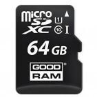 Карта памяти microSDXC class 10 GOODRAM 64 GB UHS-I + SD Adapter M1AA-0640R11