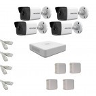 IP Комплект видеонаблюдения Hikvision(8) 2MP (FullHD) 4 цилиндр