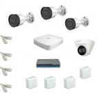IP Комплект видеонаблюдения Dahua 4MP (2K) Ultra HD  3уличн-1купол(металл)