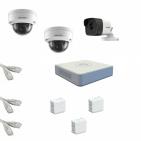 IP Комплект видеонаблюдения Hikvision Standart POE 1уличн-2купол(металл)