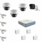 IP Комплект видеонаблюдения Hikvision Standart POE 1уличн-3купол(металл)