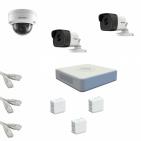 IP Комплект видеонаблюдения Hikvision Standart POE 2уличн-1купол(металл)