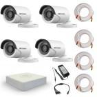 Комплект видеонаблюдения Hikvision Standart 4 уличные