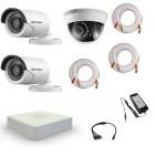 Комплект видеонаблюдения Hikvision Standart 2 уличн - 1 внутр