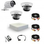 Комплект видеонаблюдения Hikvision Professional 1 уличн - 2 внутр