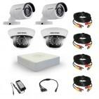 Комплект видеонаблюдения Hikvision Professional 2 уличн - 2 внутр