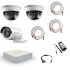 Комплект видеонаблюдения Hikvision Standart 1 уличн - 2 внутр
