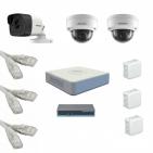 IP Комплект видеонаблюдения Hikvision Standart 1уличн-2купол (металл)