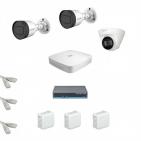 IP Комплект видеонаблюдения Dahua 4MP (2K) Ultra HD 2уличн-1купол(металл)
