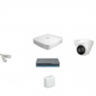 IP Комплект видеонаблюдения Dahua 4MP (2K) Ultra HD 1купольная(металл)