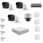 IP Комплект видеонаблюдения Hikvision Standart 3уличн-1купол (металл)