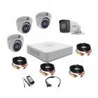Комплект видеонаблюдения Hikvision Turbo HD 5Мп 1уличн-3купол(металл)