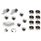 Комплект видеонаблюдения Hikvision(8) Professional 2 уличн - 6 внутр